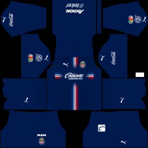 Dream League Soccer DLS 512×512 Chivas De Guadalajara Third Kits