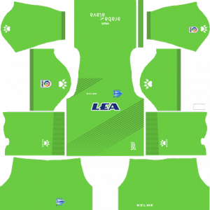 Dream League Soccer DLS 512×512 Deportivo Alaves GoalKeeper Away Kits