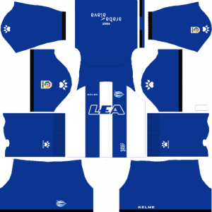 Dream League Soccer DLS 512×512 Deportivo Alaves Home Kits