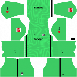 Dream League Soccer DLS 512×512 Eintracht Frankfurt GoalKeeper Home Kits