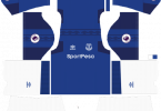 Dream League Soccer DLS 512×512 Everton FC Home Kits