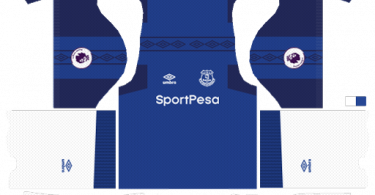 Dream League Soccer DLS 512×512 Everton FC Home Kits