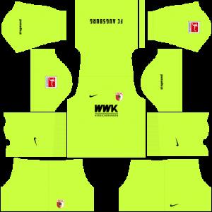Dream League Soccer DLS 512×512 FC Augsburg GoalKeeper Home Kits