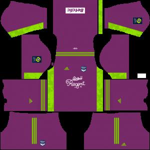 Dream League Soccer DLS 512×512 FC Bordeaux GoalKeeper Away Kits