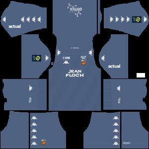 Dream League Soccer DLS 512×512 FC Lorient GoalKeeper Away Kits