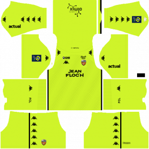 Dream League Soccer DLS 512×512 FC Lorient GoalKeeper Home Kits