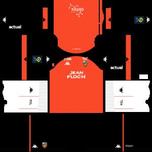 Dream League Soccer DLS 512×512 FC Lorient Home Kits