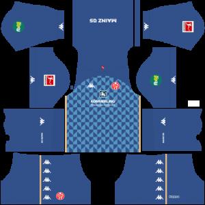 Dream League Soccer DLS 512×512 FSV Mainz GoalKeeper Home Kits