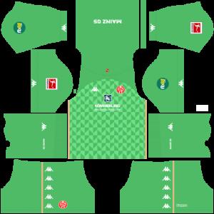 Dream League Soccer DLS 512×512 FSV Mainz GoalKeeper Third Kits