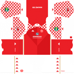 Dream League Soccer DLS 512×512 FSV Mainz Home Kits