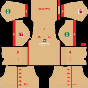 Dream League Soccer DLS 512×512 FSV Mainz Third Kits