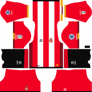Dream League Soccer DLS 512×512 Girona FC Home Kits