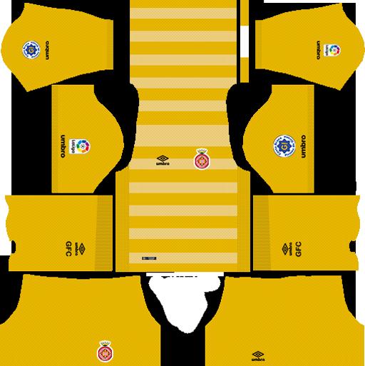DLS Girona FC Kits (2021) | Dream League Soccer Kits & Logo