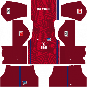 Dream League Soccer DLS 512×512 Hertha BSC GoalKeeper Away Kits
