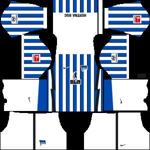 Dream League Soccer DLS 512×512 Hertha BSC Home Kits