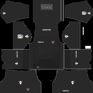 Dream League Soccer DLS 512×512 Levante UD GoalKeeper Home Kits