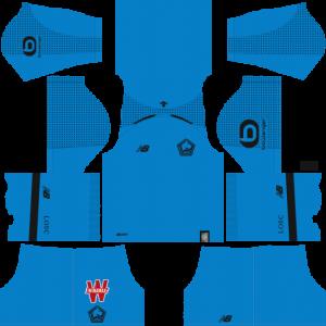 Dream League Soccer DLS 512×512 Lille LOSC FC GoalKeeper Home Kits