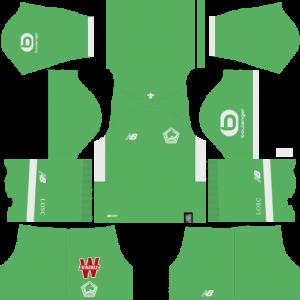 Dream League Soccer DLS 512×512 Lille LOSC FC GoalKeeper Third Kit