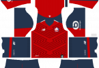 Dream League Soccer DLS 512×512 Lille LOSC FC Home Kits