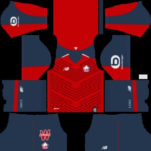 Dream League Soccer DLS 512×512 Lille LOSC FC Home Kits