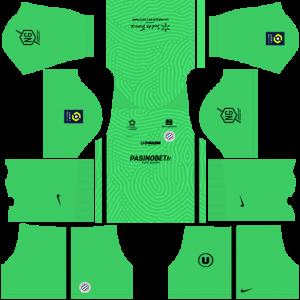 Dream League Soccer DLS 512×512 Montpellier HSC GoalKeeper Away Kits