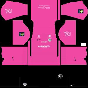 Dream League Soccer DLS 512×512 Montpellier HSC GoalKeeper Home Kits