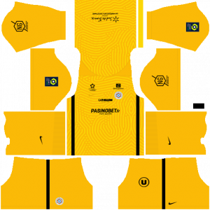 Dream League Soccer DLS 512×512 Montpellier HSC GoalKeeper Third Kits