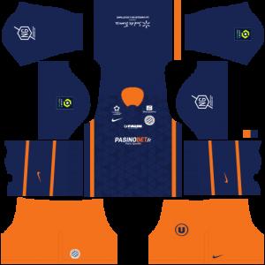 Dream League Soccer DLS 512×512 Montpellier HSC Home Kits