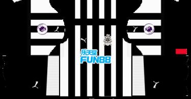 Dream League Soccer DLS 512×512 Newcastle United FC Home Kits