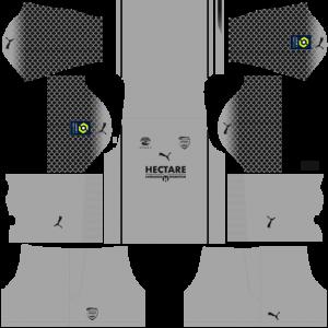 Dream League Soccer DLS 512×512 Nimes Olympique GoalKeeper Away Kits