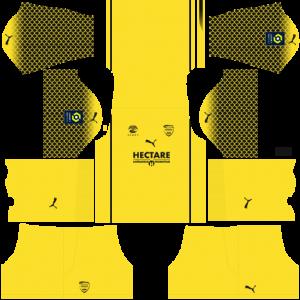 Dream League Soccer DLS 512×512 Nimes Olympique GoalKeeper Home Kits