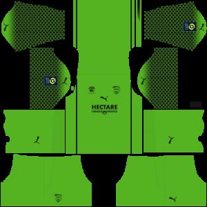 Dream League Soccer DLS 512×512 Nimes Olympique GoalKeeper Third Kits