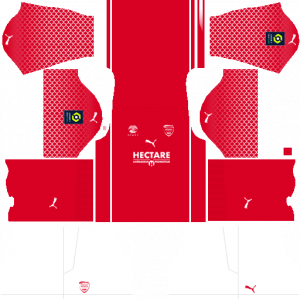Dream League Soccer DLS 512×512 Nimes Olympique Home Kits