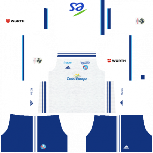 Dream League Soccer DLS 512×512 RC Strasbourg Alsace Away Kits