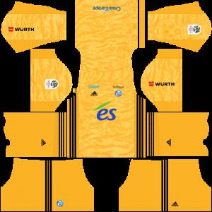 Dream League Soccer DLS 512×512 RC Strasbourg Alsace GoalKeeper Away Kits