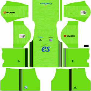 Dream League Soccer DLS 512×512 RC Strasbourg Alsace GoalKeeper Home Kits
