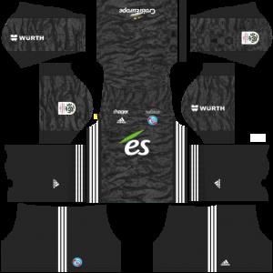 Dream League Soccer DLS 512×512 RC Strasbourg Alsace Third Kits