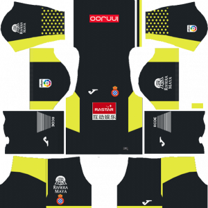 Dream League Soccer DLS 512×512 RCD Espanyol GoalKeeper Home Kits