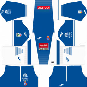 Dream League Soccer DLS 512×512 RCD Espanyol Home Kits