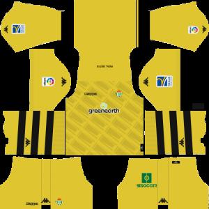 Dream League Soccer DLS 512×512 Real Betis GoalKeeper Home Kits