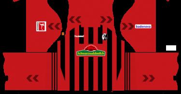 Dream League Soccer DLS 512×512 SC Freiburg Home Kits