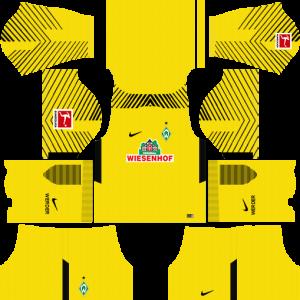 Dream League Soccer DLS 512×512 SV Werder Bremen GoalKeeper Home Kits