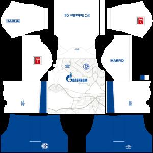 Dream League Soccer DLS 512×512 Schalke 04 Away Kits