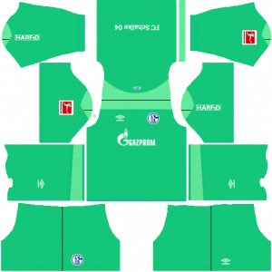 Dream League Soccer DLS 512×512 Schalke 04 GoalKeeper Away Kits