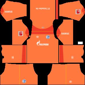Dream League Soccer DLS 512×512 Schalke 04 GoalKeeper Home Kits