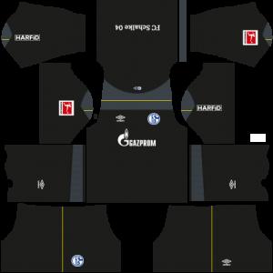 Dream League Soccer DLS 512×512 Schalke 04 GoalKeeper Third Kits