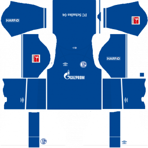 Dream League Soccer DLS 512×512 Schalke 04 Home Kit