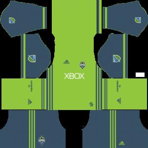 Dream League Soccer DLS 512×512 Seattle Sounders FC Home Kits