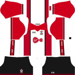 Dream League Soccer DLS 512×512 Southampton FC Home Kits