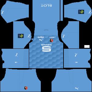 Dream League Soccer DLS 512×512 Stade Rennais GoalKeeper Away Kits